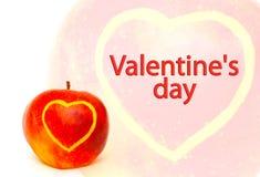 Kaart - de Dag van Valentijnskaarten Stock Foto's