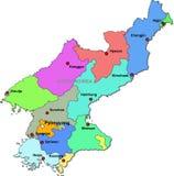 Kaart de Noord- van Korea Stock Afbeelding