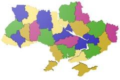 Kaart de Oekraïne Stock Foto