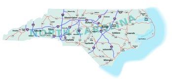 Kaart de Tusen staten van de Staat van Noord-Carolina Stock Afbeeldingen