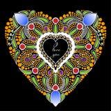 Kaart in de vorm van hart Stock Afbeeldingen