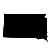 Kaart de Zuid- van Dakota Royalty-vrije Stock Afbeelding