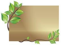 Kaart die met bladeren wordt verfraaid Royalty-vrije Stock Afbeelding