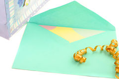 Kaart en envelop Royalty-vrije Stock Foto's