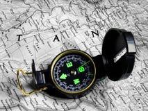 Kaart en kompas 2 royalty-vrije stock afbeeldingen