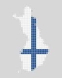 Kaart en vlag van Finland Royalty-vrije Stock Foto's