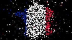Kaart en vlag van Frankrijk royalty-vrije illustratie