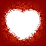Kaart - frame in de vorm van hart. EPS 8 Stock Afbeelding