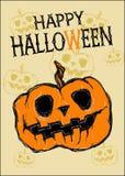 Kaart Gelukkig Halloween Stock Afbeelding