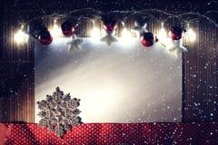 Kaart Gelukkig Nieuwjaar en Vrolijke Kerstmis Royalty-vrije Stock Fotografie