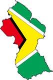 Kaart Guyana Royalty-vrije Stock Afbeeldingen
