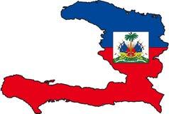 Kaart Haïti Stock Afbeelding