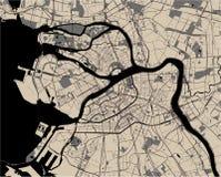 Kaart Heilige Petersburg, Rusland royalty-vrije illustratie