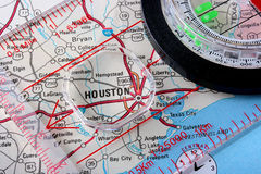 Kaart Houston Stock Foto