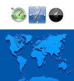 Kaart-illustratie-Kaart wereldwijd Stock Fotografie