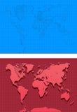 Kaart-illustratie-Kaarten wereldwijd Stock Afbeeldingen