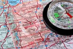 Kaart Indianapolis Stock Afbeelding