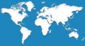 Kaart IX van de wereld stock illustratie