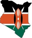 Kaart Kenia Royalty-vrije Stock Afbeelding