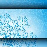 Kaart met abstracte bloemenachtergrond. stock illustratie