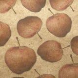 Kaart met appel Royalty-vrije Stock Foto's