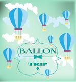 Kaart met ballons Stock Afbeelding