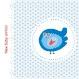 Kaart met blauwe vogel Royalty-vrije Stock Foto