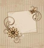 Kaart met bloem Royalty-vrije Stock Foto