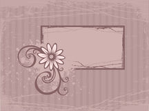 Kaart met bloem Stock Foto