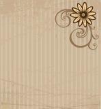 Kaart met bloem Stock Afbeelding