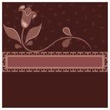 Kaart met bloem Royalty-vrije Stock Afbeelding