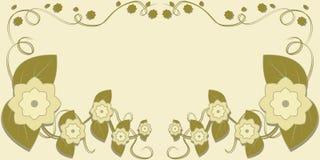 Kaart met bloemen Royalty-vrije Stock Afbeeldingen
