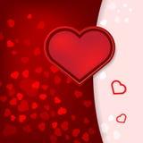Kaart met de Dag van hartenvalentijnskaarten. Royalty-vrije Stock Afbeeldingen
