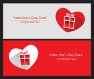 Kaart met de Dag van Valentine Stock Fotografie