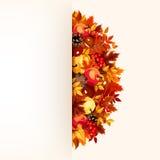 Kaart met de herfstbladeren Vector eps-10 Stock Fotografie