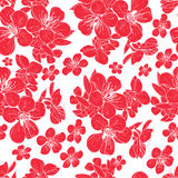 Kaart met de lentebloesem royalty-vrije illustratie