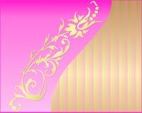 Kaart met een bloem Stock Afbeelding