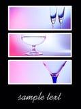 Kaart met glazen. gekleurde collage Stock Foto