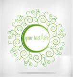 Kaart met groene installaties Stock Foto