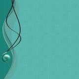 Kaart met groene parelcoulomb voor ontwerp Stock Afbeeldingen