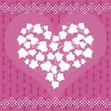 Kaart met Ivy Heart Stock Afbeelding