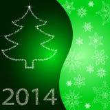 Kaart met Kerstboom Royalty-vrije Stock Fotografie