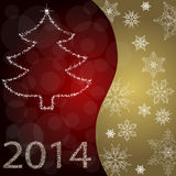 Kaart met Kerstboom Stock Foto