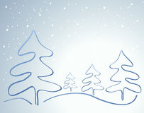Kaart met Kerstboom Stock Afbeeldingen