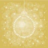 Kaart met Kerstmisballen Royalty-vrije Stock Afbeelding