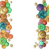 Kaart met kleurrijke knopen stock afbeelding