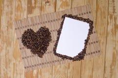 Kaart met koffie royalty-vrije stock foto