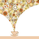 Kaart met kop van koffie Royalty-vrije Stock Fotografie