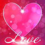 Kaart met liefde Stock Foto's