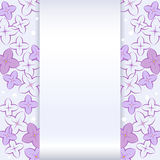 Kaart met Lilac Bloem Royalty-vrije Stock Foto's